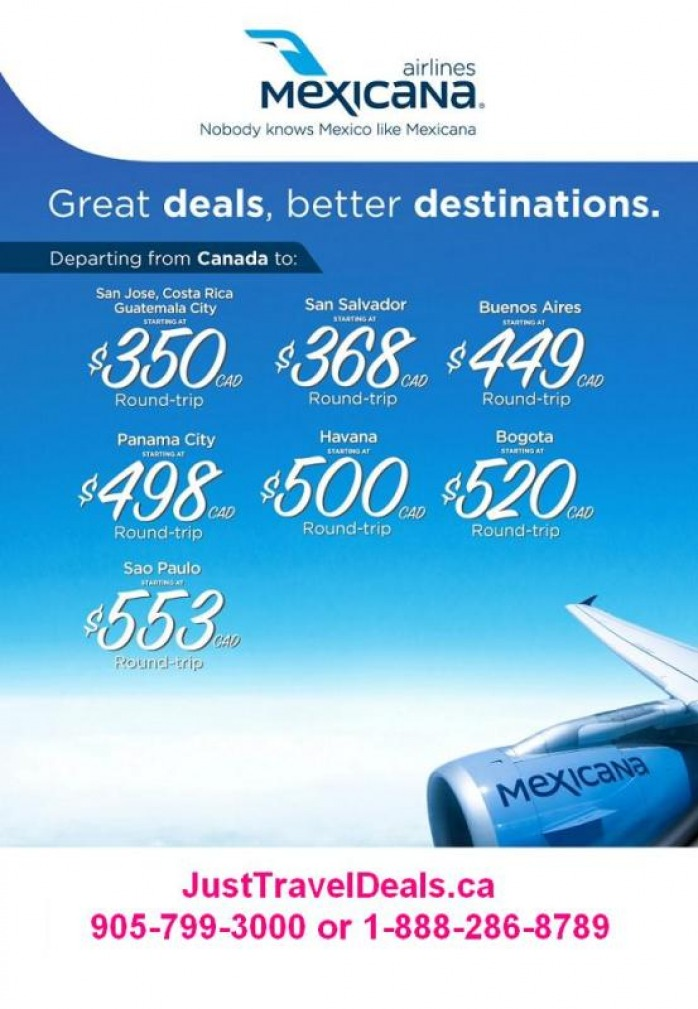 Air Plain Tickets Sale http://www.airlinesale.ca/mexicana-flights.html